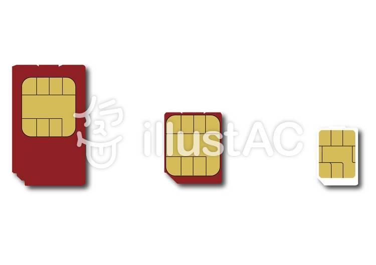 SIMカードのイラスト