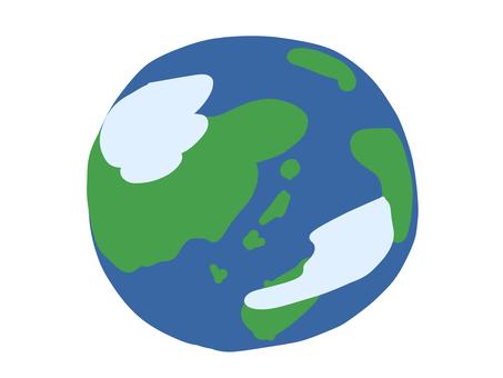 手書きの地球