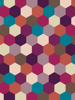 Geometric pattern background material
