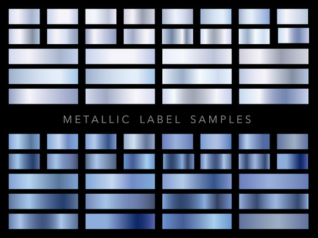 Metallic label sample set