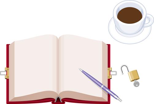 Diary diary keyed coffee