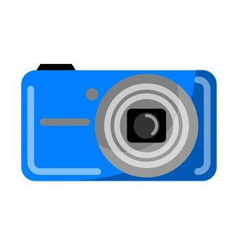 Digital camera (blue)