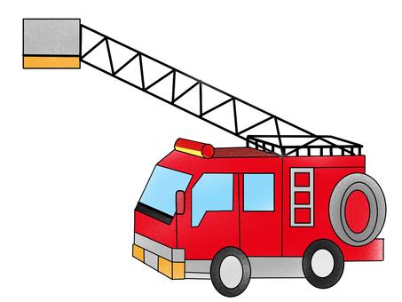 Fire, fire truck