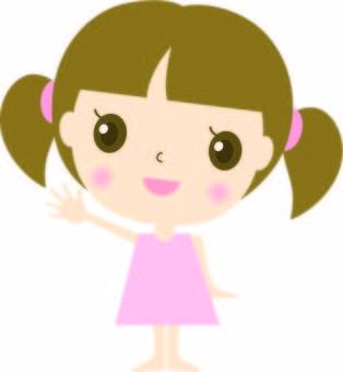 女孩·舉手