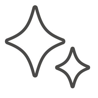 반짝이 마크 아이콘 _ 선