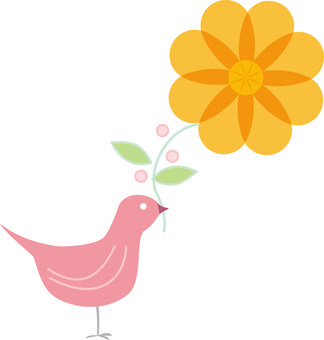 Birds and flowers 02