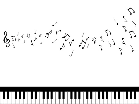 Music · Note illustration 08 · Flowing music