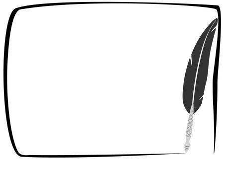 Feather pen frame