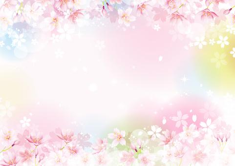 桜の幻想的なフレーム05