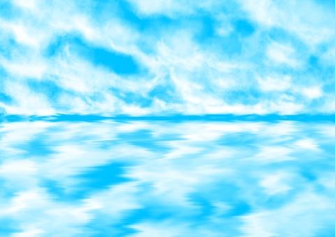 Sea and sky reflection