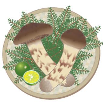 Matsutake with rind