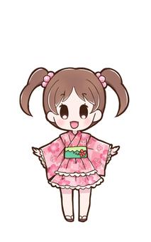 Girl in a yukata dress 01_A