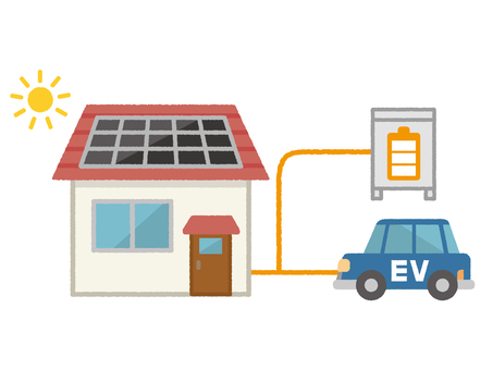 Photovoltaic generation, storage battery and electric vehicle