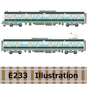 Commuter train E233 series Saikyo line illustration