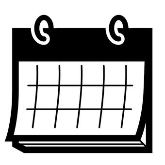 Calendar schedule black schedule