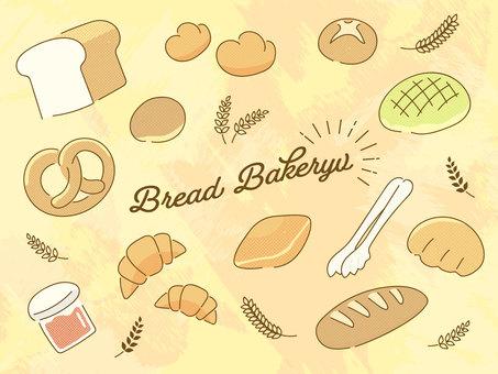 パンのイラスト素材セット