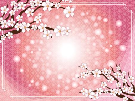 Fantastic cherry blossom background frame