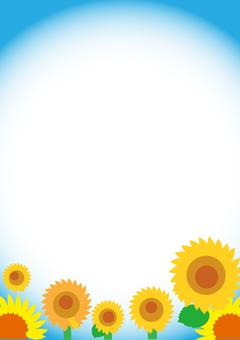 Sunflower frame 4 A4