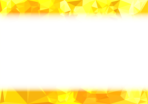Yellow polygon vector frame background material