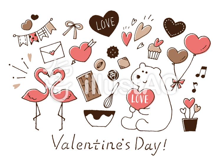 バレンタイン手描き色々