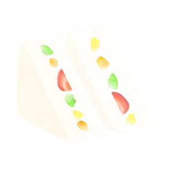 サンドイッチ(フルーツ)