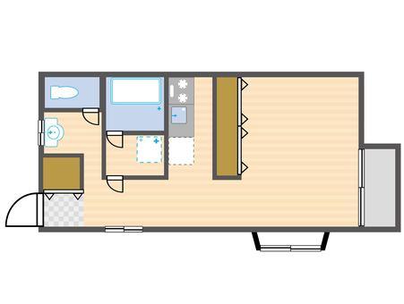 1DK Floorplan