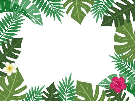 Fashionable leaf frame Hawaii Bali