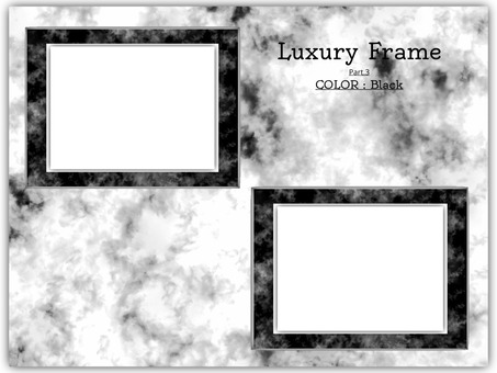 鏡框大理石狀畫框黑色3
