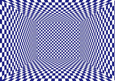 藍色的檢查空間