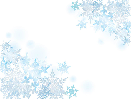 Snow crystal white background