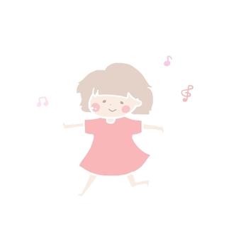 女の子(踊る/歌う)