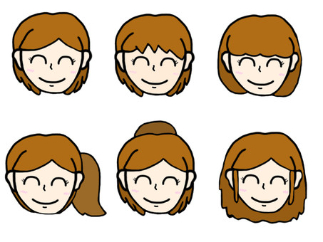 Female hairstyle set
