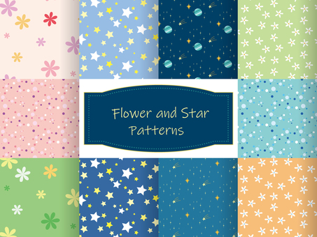 Flower and star pattern set