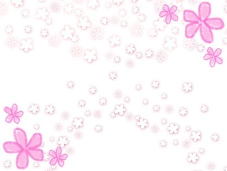Flower frame of flowers
