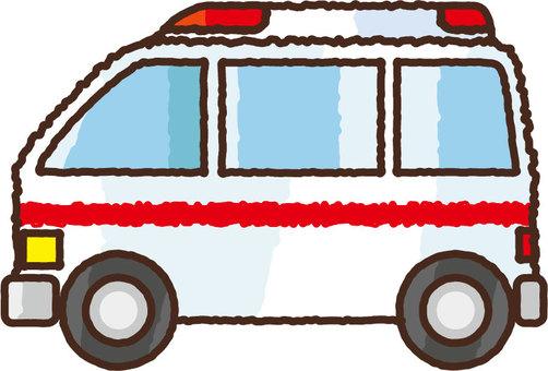 Hand-drawn ambulance