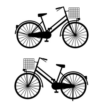 Bicycle silhouette (right / left)