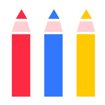 Colored pencils 3 colors