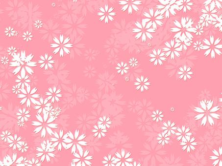 벚꽃 벽지 시리즈 5 전통 문양 바람
