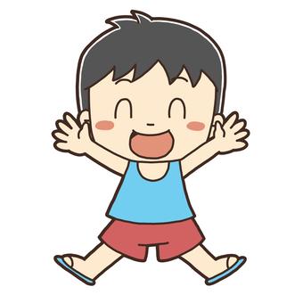 점프하는 소년의 그림