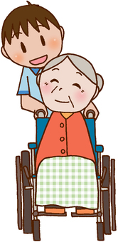 [Nursing care] Wheelchair / Elderly people