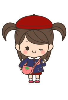 Girls' child (hat red)