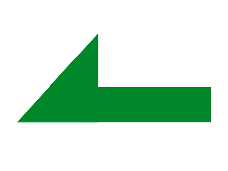 Arrow direction guide graphic green