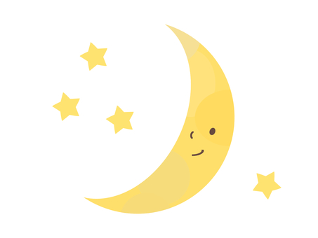Moon crescent material simple cute