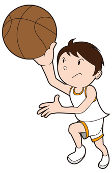 Basketball boy shooting