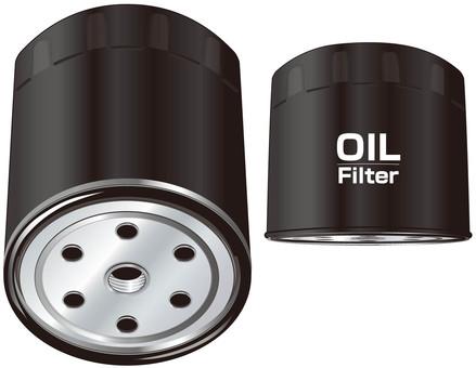 Oil filter, element