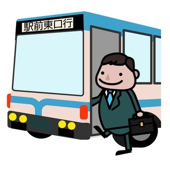 A man riding a bus