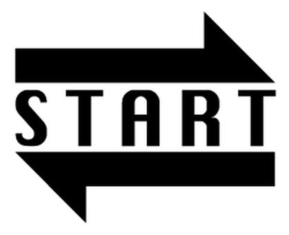 Start arrow _ Black