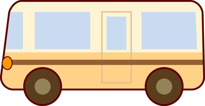 Brown bus