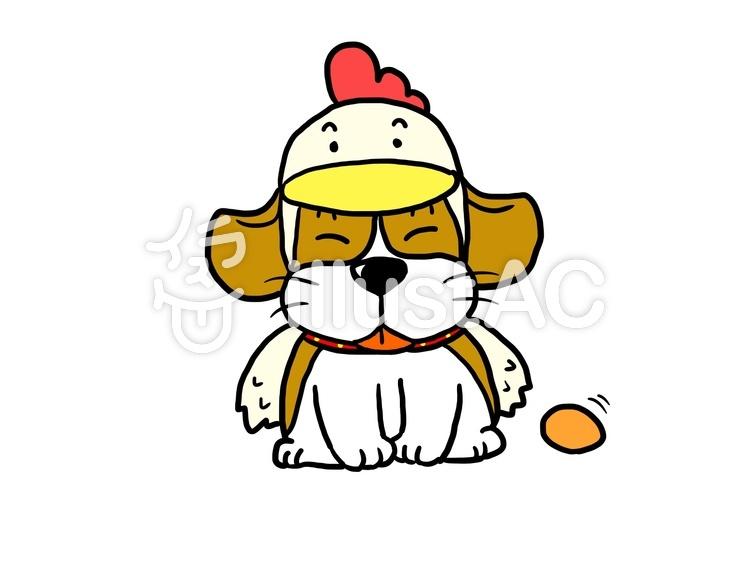 ビーグル犬にわとりの着ぐるみイラスト No 551850無料イラスト