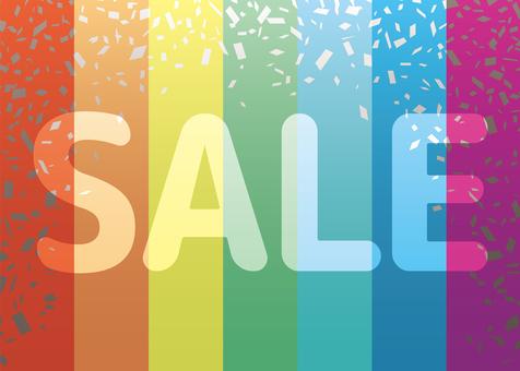 Rainbow Rainbow Color Stripe Sale Confetti